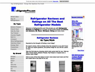 refrigeratorpro.com screenshot