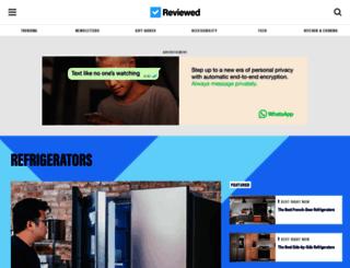 refrigerators.reviewed.com screenshot