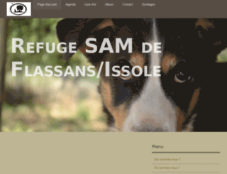 refuge-sam-de-flassans-issole.e-monsite.com screenshot