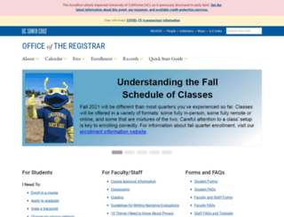reg.ucsc.edu screenshot
