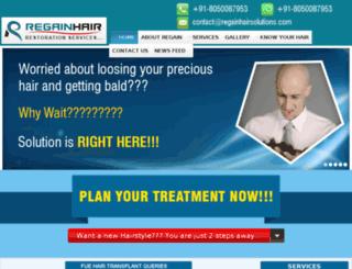regainhairsolutions.com screenshot