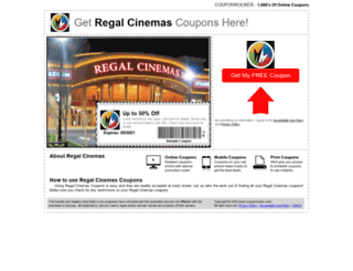 regalcinemas.couponrocker.com screenshot