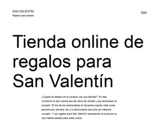 regalosparasanvalentin.es screenshot