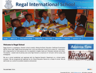 regalschoolgh.com screenshot