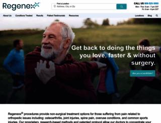regenexx.com screenshot