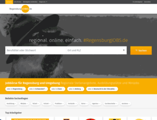 regensburgjobs.de screenshot