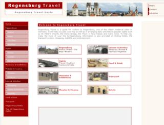 regensburgtravel.com screenshot