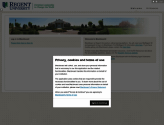 regent.blackboard.com screenshot