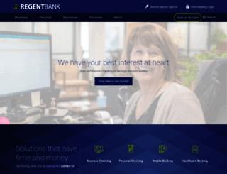 regentbank.com screenshot