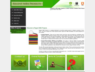 regentmbaprojects.com screenshot