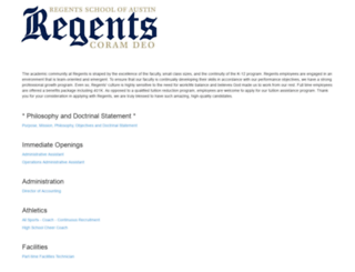regents-austin.atsondemand.com screenshot