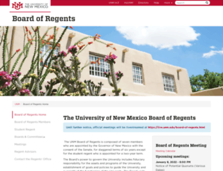 regents.unm.edu screenshot