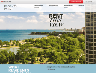 regentsparkchicago.com screenshot