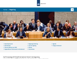 regering.nl screenshot