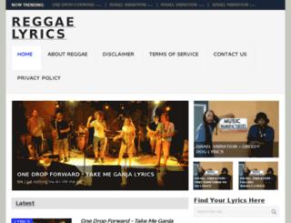 reggaelirics.net screenshot