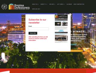 reginadowntown.ca screenshot