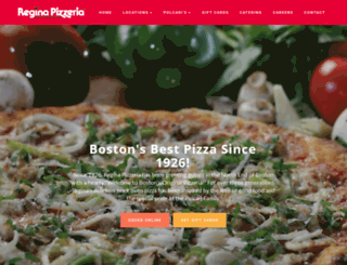 reginapizzeria.com screenshot
