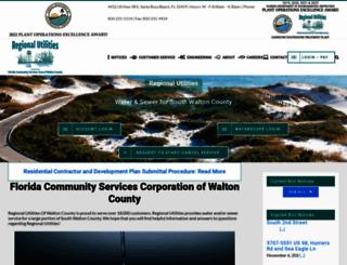regionalutilities.net screenshot