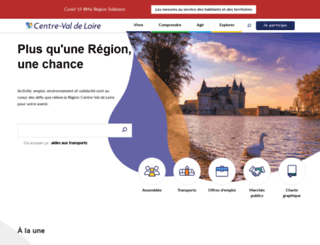 regioncentre-valdeloire.fr screenshot