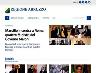 regione.abruzzo.it screenshot