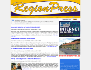 regionpress.cz screenshot