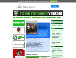 regiorijnmondvoetbal.nl screenshot