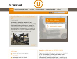 regiotaxiutrecht.nl screenshot