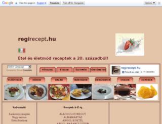 regirecept.hu screenshot
