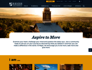 regis.edu screenshot