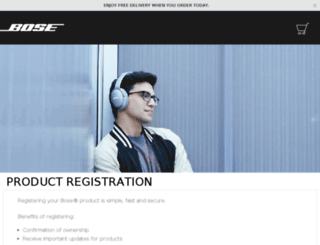 register.bose.co.uk screenshot