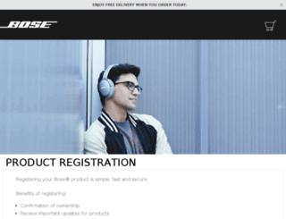 register.bose.co.uk screenshot