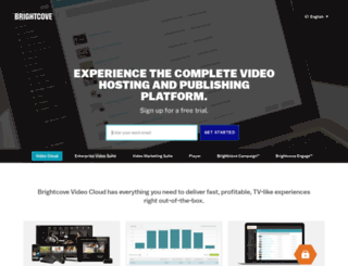 register.brightcove.com screenshot