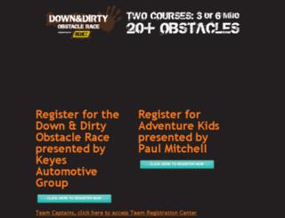 register.downanddirtyobstaclerace.com screenshot