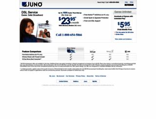 register.juno.com screenshot