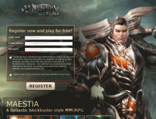register.maestia.com screenshot