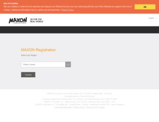 register.maxon.net screenshot