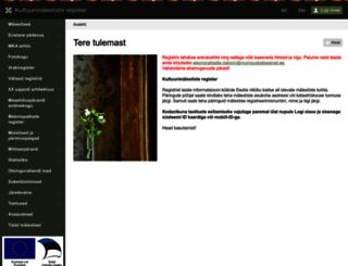 register.muinas.ee screenshot