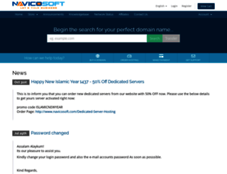 register.navicosoft.com screenshot
