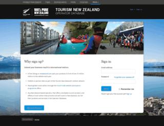 register.nztb.co.nz screenshot