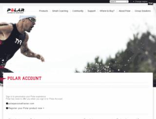 register.polar.fi screenshot