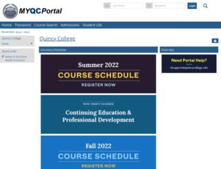 register.quincycollege.edu screenshot