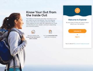 register.ubiome.com screenshot