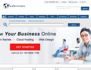 register.webvisions.com screenshot