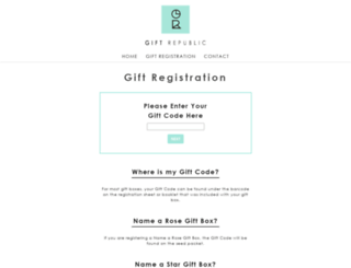 registergiftbox.com screenshot
