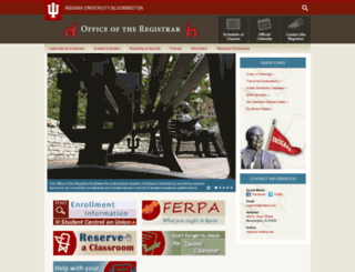 registrar.indiana.edu screenshot