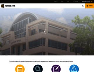 registrar.kennesaw.edu screenshot