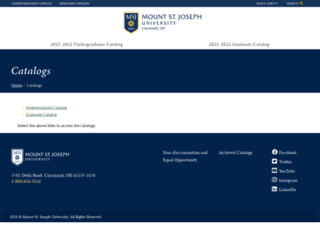 registrar.msj.edu screenshot