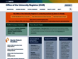 registrar.ucdavis.edu screenshot