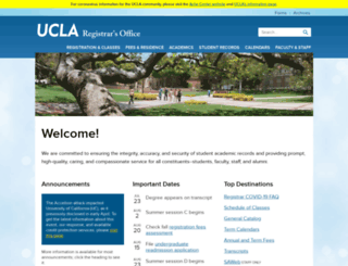 registrar.ucla.edu screenshot