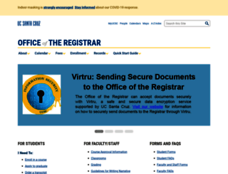 registrar.ucsc.edu screenshot